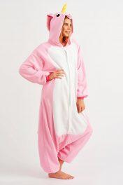 пижама кигуруми розовый единорог женская