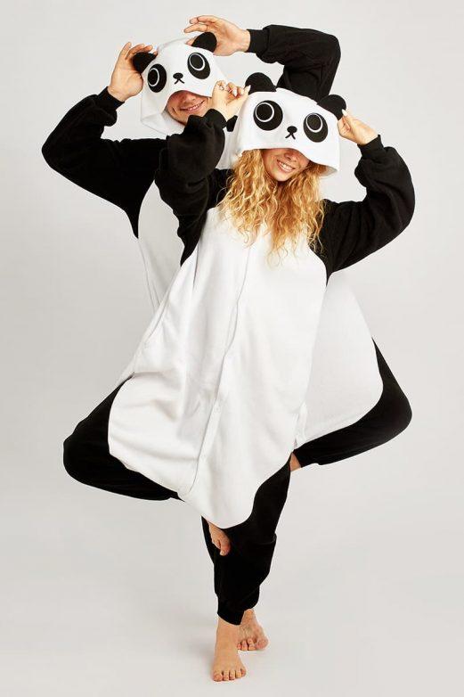 пижама кигуруми панда женская