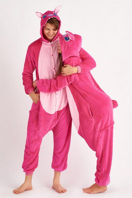кигуруми стич розовый для пары