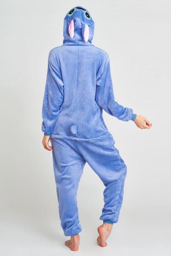 пижама кигуруми стич синий