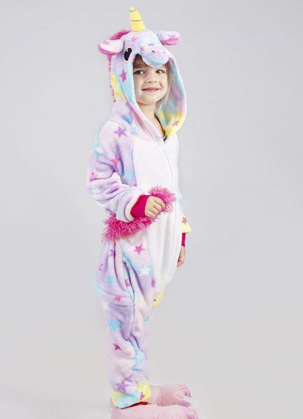 Детская пижама кигуруми звездный единорог