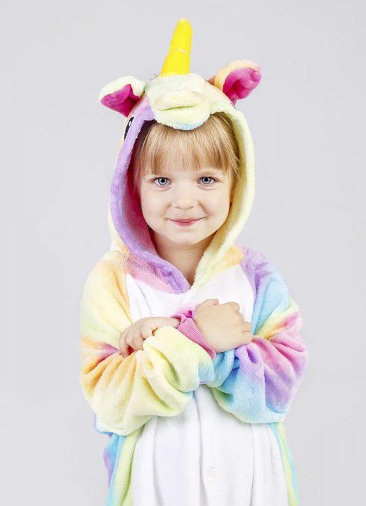 Детский костюм радужный единорог