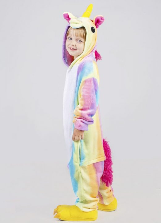 Пижама кигуруми для детей радужный единорог