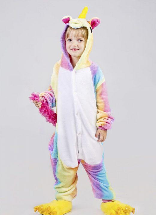 Детская пижама радужный единорог