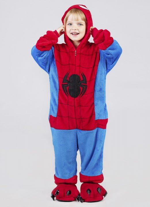 кигуруми человек паук детский