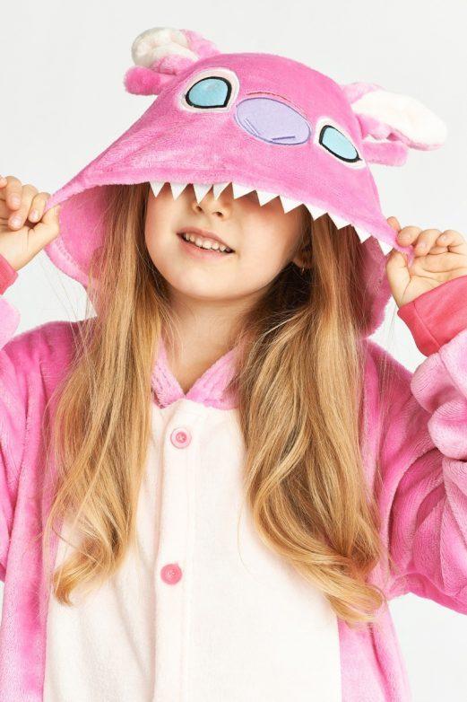 розовый стич детский костюм