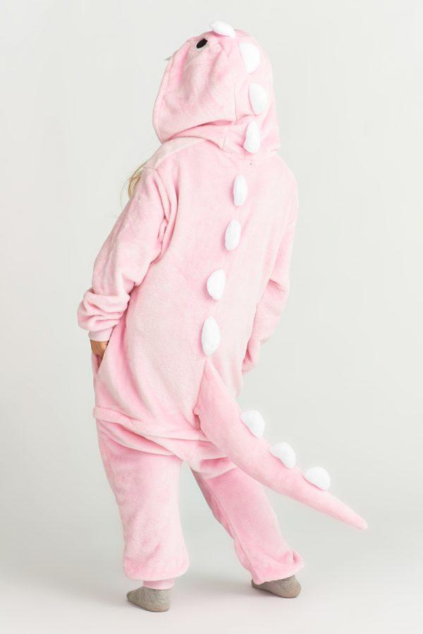 костюм дино розовый детский
